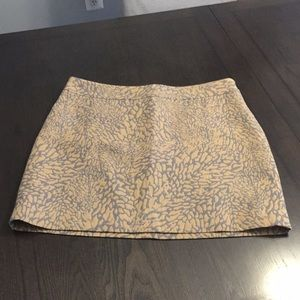 Loft size 12 gray and brown skirt
